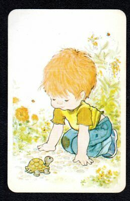 AU3 • Buy SARAH KAY Swap Card - Young Boy With Turtle (BLANK BACK)