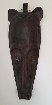 £18 • Buy African Face Mask Handcrafted Decorative Long Features Calm Serene Wall Hanging