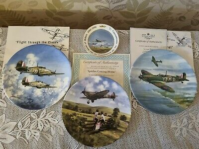 £4 • Buy A Collection Of Fine Bone China Coalport And Royal Dolton Collectable Plates