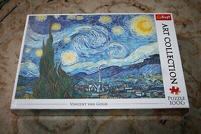 £9.99 • Buy 1000 Piece Trefl Vincent Van Gogh The Starry Night Jigsaw Puzzle (new & Sealed)