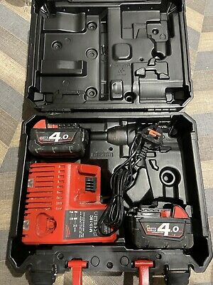 £94.95 • Buy Milwaukee M18 2x 4.0Ah Cordless Brushless Battery Set W/ Charger+Battery / Case