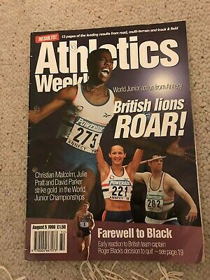 £1.50 • Buy Vintage Athletics Weekly Magazine 5 Aug 1998 Featuring World Junior Champs
