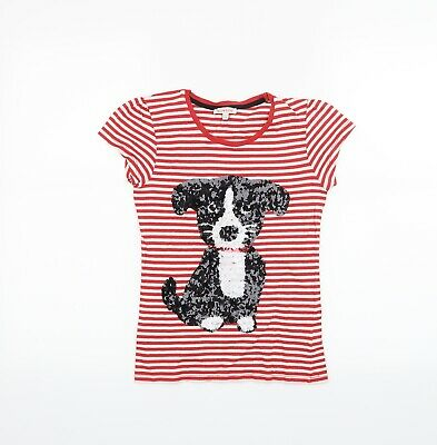 £5 • Buy Blue Zoo Girls Red Striped  Basic T-Shirt Size 9-10 Years