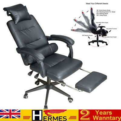 £62.99 • Buy Office Executive Racing Gaming Chair Swivel Recliner Computer Desk Chair 120kg