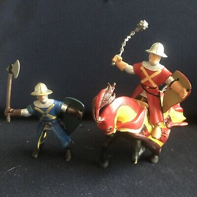 £5.60 • Buy Papo Knight (Red) On Horse Plus One  Knight Figure (Blue)