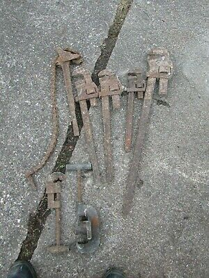 £25 • Buy Builders Plumbers Large Stilson Wrenches Pipe Cutters And Chain Wrench Job Lot