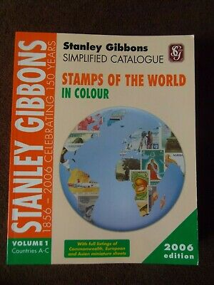 £15 • Buy STANLEY GIBBONS STAMPS Of The WORLD A-C 2006 VOL. 1 CATALOGUE SIMPLIFIED