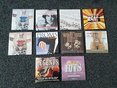 £2.40 • Buy A Collection Of 10 CD's - Sunday Express Promotional Items - Various Music Type.