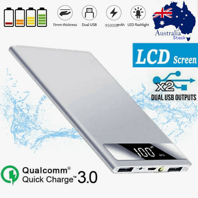 AU25.99 • Buy 2 USB Slim 950000mAh Portable Power Bank Charger With LCD External Battery Pack