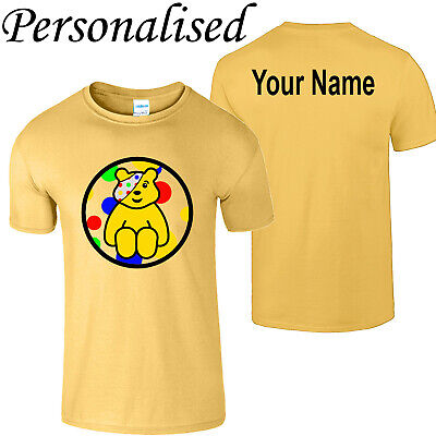 £6.99 • Buy Spotty Pudsey Bear Personalise Kids T Shirt Charity Children In Need Mens Tee