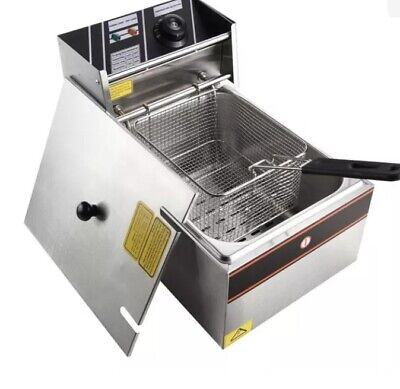 £30 • Buy 6L Oil Electric Deep Fat Fryer Countertop Chip Stainless Steel Home Commercial