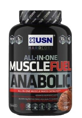 £27.99 • Buy USN Muscle Fuel Anabolic All-In-One Muscle Mass Lean Gainer 2kg Protein Shake