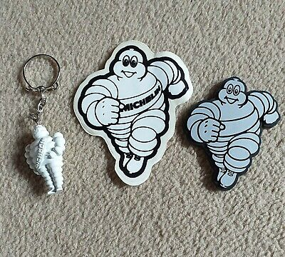 £5 • Buy Michelin Man Collection Key Ring - Sticker - Plastic Plaque 3 X Items.