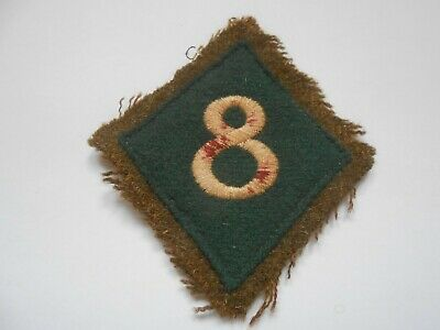 £20 • Buy White 8 On Green Diamond Cloth Formation Sign Military Unit Patch Unknown To Me