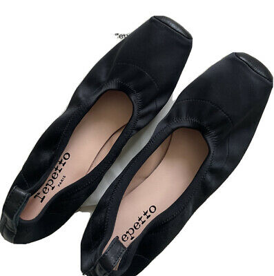 £49.99 • Buy Repetto Black Ballet Pump Shoe Flats New With A Care Bag 38.5