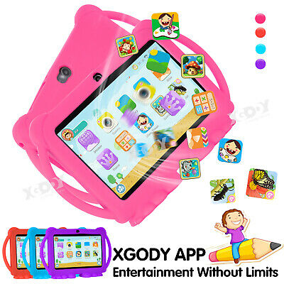 AU72.99 • Buy Xgody 7  HD Android Tablet Quad Core 2*Camera WiFi 2+16GB Bundle Case For Kids