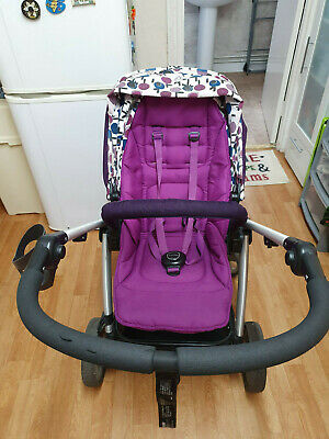 £38 • Buy Mamas & Papas Sola Plum Pushchairs Single Seat Stroller And Black Carrycot