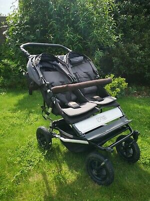 £225 • Buy Mountain Buggy Duet Black Travel System Double Seat Buggy