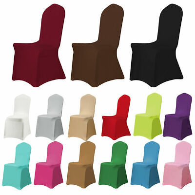 £2.29 • Buy 1-100pcs Chair Covers Spandex Lycra Wedding Banquet Anniversary Party Decoration