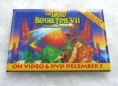 £2.75 • Buy THE LAND BEFORE TIME VII - On Video & DVD - FILM - PROMOTIONAL PIN BADGE