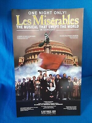 £39.99 • Buy Original LES MISERABLES 10th ANNIVERSARY Concert THEATRE Poster DEWYNTERS 1990s