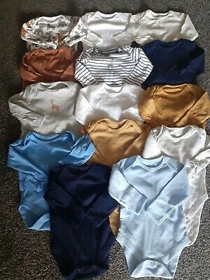 £0.99 • Buy Baby Boys 14 Long Sleeved Vests 3-6 Months Excellent Condition