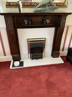 £50 • Buy Solid Carved Golden / Medium Oak Fire Surround / Fireplace Surround