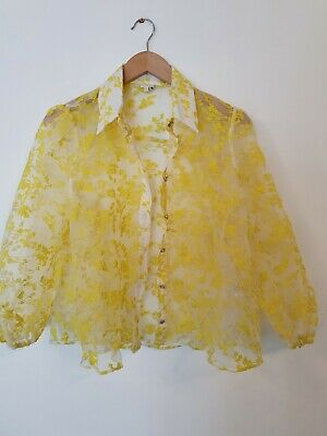 £0.99 • Buy RIVER ISLAND Floral See Through Shirt Size UK12