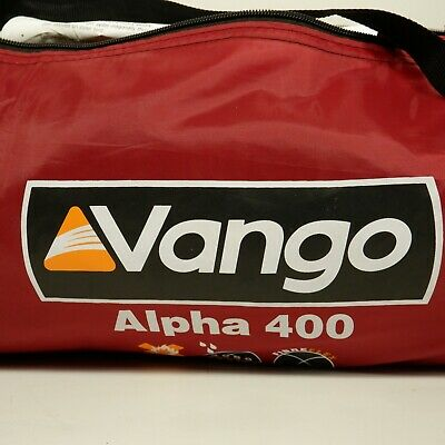 £28.66 • Buy Vango Alpha 400 Tent Camping Festival Instructions 4-Person Red 2000 Protex H3