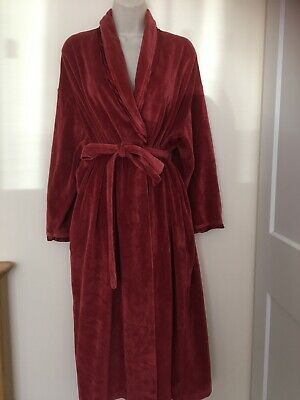 £8.10 • Buy Vintage Cotton Mix Velour S 12/14 Dressing Gown Red