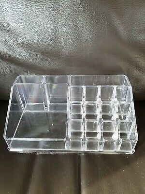 £2 • Buy Clear Makeup Plastic Organiser Stand 16 Compartments Make Up Compartments