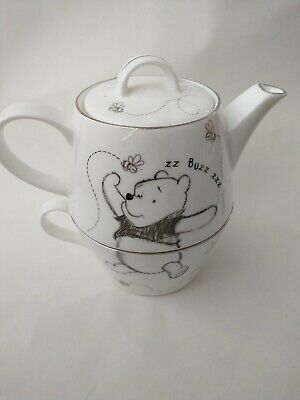 £28.99 • Buy Whittard Of Chelsea Queens Disney Stacking Teapot And Cup Winnie The Pooh China
