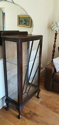£74.99 • Buy Vintage ART DECO Glass Fronted DRINKS CABINET Bookcase / China Display CUPBOARD