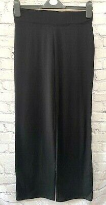£12.99 • Buy Ex M&S Black Jersey Pull On Straight Leg Trousers Sizes 6 20 22 24 *NEW* (96)