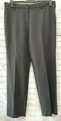 £11.99 • Buy Ex M&S Charcoal Grey Straight Leg Trousers Size 14R Or 16L *NEW* (97)