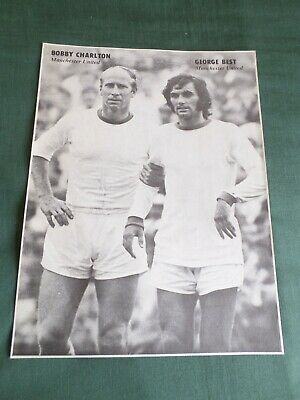 £2.50 • Buy George Best - Bobby Charlton - Man United  - 1 Page Picture - Clipping /cutting