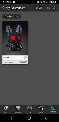 £265 • Buy CRYPTKINS - Mothman VeVe 3D NFT Art Digital Collectible SOLD OUT FA