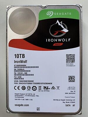 View Details Seagate IronWolf (7200RPM, 3.5-inch, 256MB Cache) 10TB Internal Hard Drive - • 102£