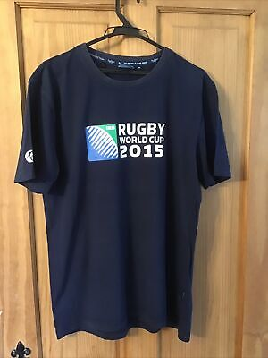 £5.99 • Buy Mens Rugby World Cup Navy T Shirt Size Medium Official Merchandise
