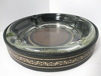 £19.01 • Buy Vintage Round Glass Cigar Ash Tray About 8  Wide 1.5  Tall