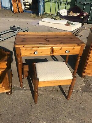 £120 • Buy Ducal 'Victoria' Solid 'Antique' Pine Dressing Table, Mirror And Stool