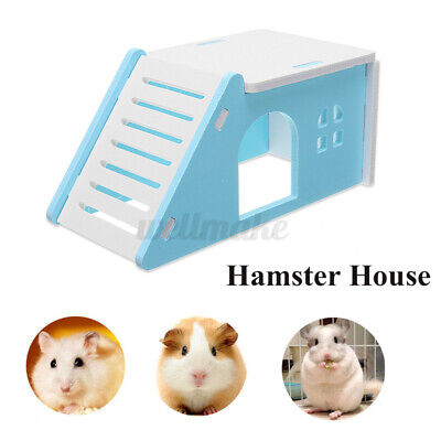 £4.39 • Buy Hamster Pet Mouse Nest With Liftable Ladder Playground Exercise Toys Cage Bed