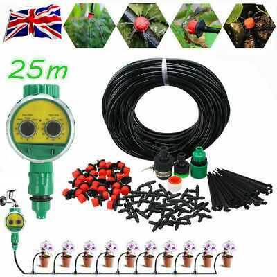 £5.99 • Buy 25M Automatic Drip Irrigation System Kit Plant Self Watering Garden Hose UK