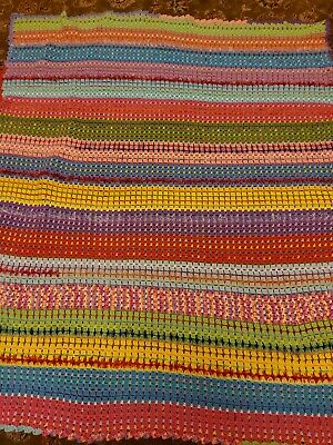 £30.99 • Buy NEW Large Hand Made Throw / Picnic Granny Blanket - Fits Bed Too