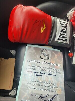 £25 • Buy DAVID HAYE SIGNED GLOVE AND PICTURE Authenticated