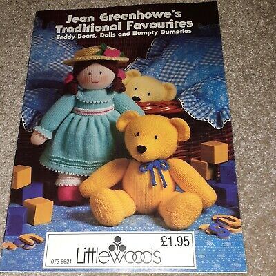 £4.99 • Buy Jean Greenhowe Traditional Favourites Toy Knitting Pattern Booklet