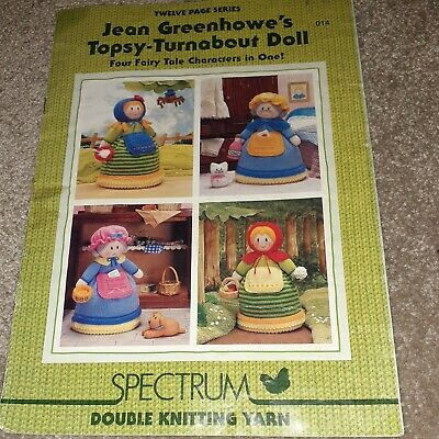 £5.99 • Buy Jean Greenhowe Topsy Turnabout Doll Toy Knitting Pattern Booklet