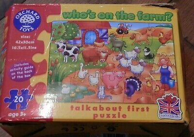£2.50 • Buy ORCHARD TOYS WHO'S ON THE FARM PUZZLE 20 Pieces