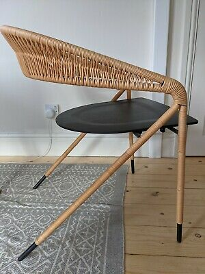 £51 • Buy Rattan And Black Wood Scandinavian Design Chair - From The Conran Shop