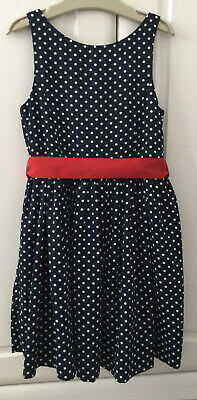 £6 • Buy 🌸POLO RALPH LAUREN Girls Party Occasion Dress Navy White Dots Age 6 Years🌸